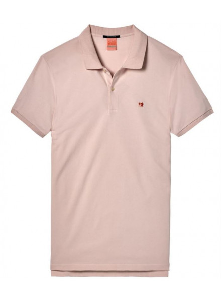 Polo Pique Scotch & Soda Classic C Pink Ash