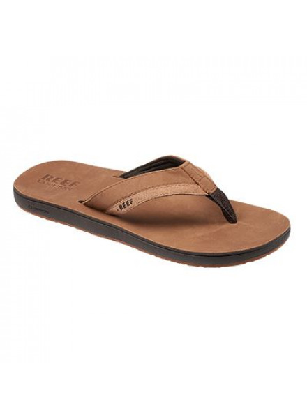 Chanclas Reef Leather Contoured Tan