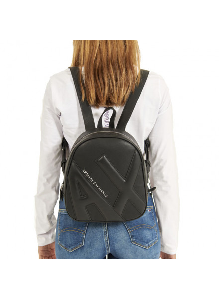 Mochila Armani Exchange Relieve Negra