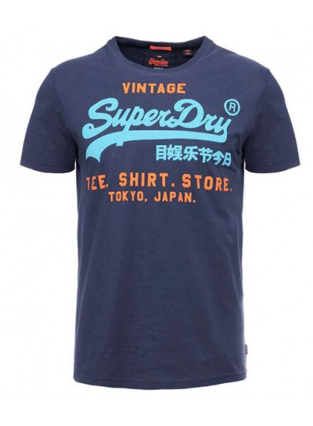 Camiseta Superdry Shop Duo Lite Marina Nav