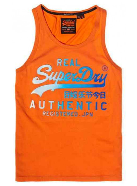 Camiseta Superdry Logo Authentic Fa Skate Tang