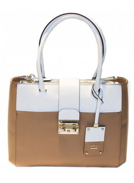 Bolso Guess Martine Status Carry Tan Multi