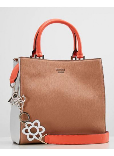 Bolso Guess Dania Girlfriend Shopper Tan Multi