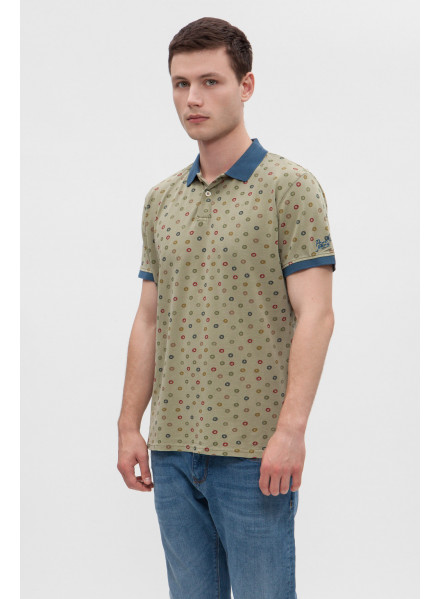 POLO PEPE JEANS OLIVER WASHED COMBAT HOMBRE