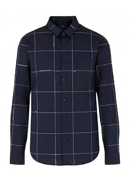 CAMISA ARMANI EXCHANGE NAVY LOGO