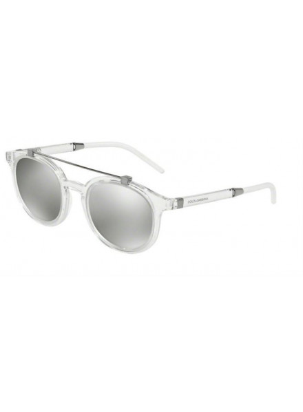 Dolce & Gabbana Dg6116 Crystal/Light Grey Mirror Silver