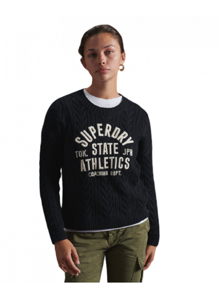 JERSEY SUPERDRY COLLEGE CABLE CREW