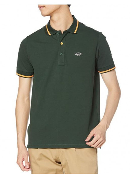 POLO REPLAY STRETCH DARK GREEN XL