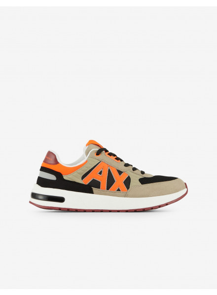 ZAPATILLA ARMANI EXCHANGE LOGO NARANJA