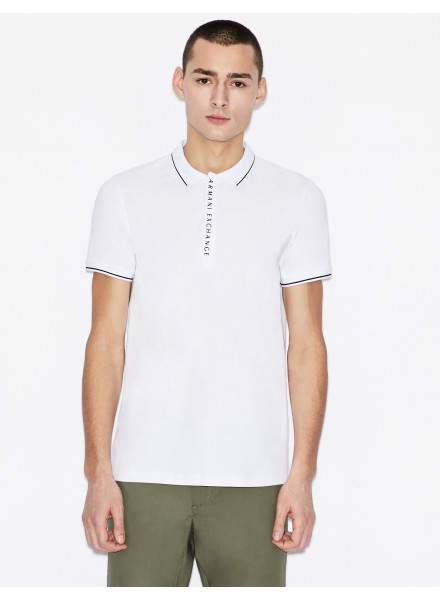 POLO ARMANI EXCHANGE BLANCO