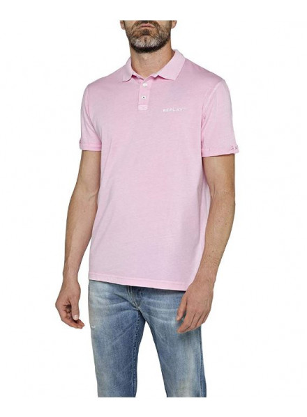 POLO REPLAY COTTON LIGHT ROSE XXL