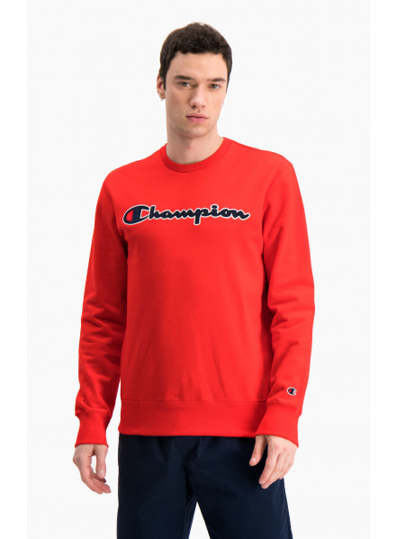 Satin Script Logo Cotton Terry Sudadera Champion