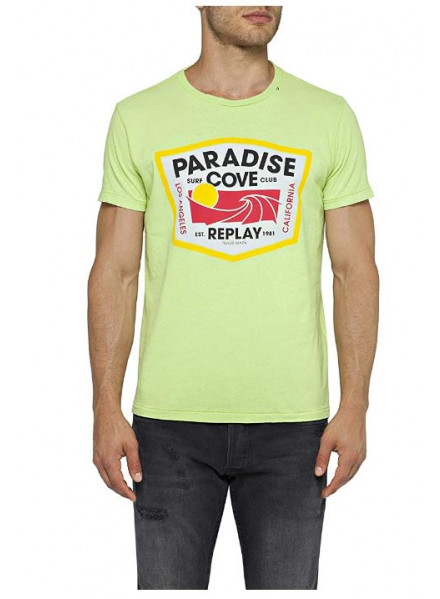 CAMISETA REPLAY G. DYED OPEN END HAND ACID GREEN L