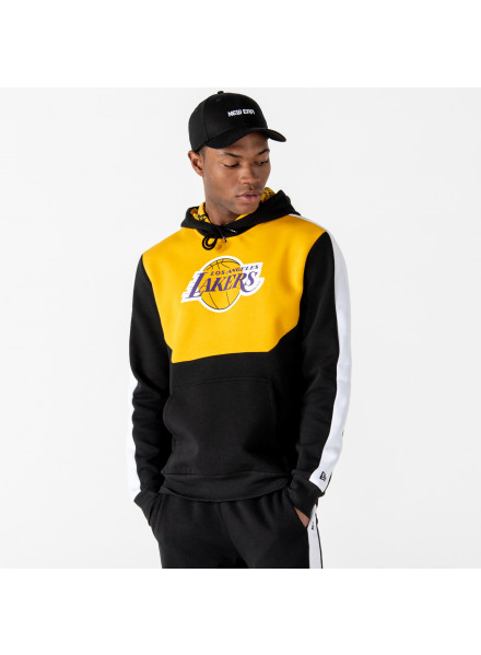 SUDADERA NEW ERA LOS ANGELES LAKERS COLOR BLOCK