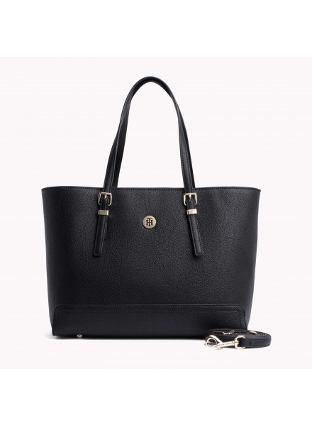 Bolso Tommy Hilfiger Honey Finegrain Med Black