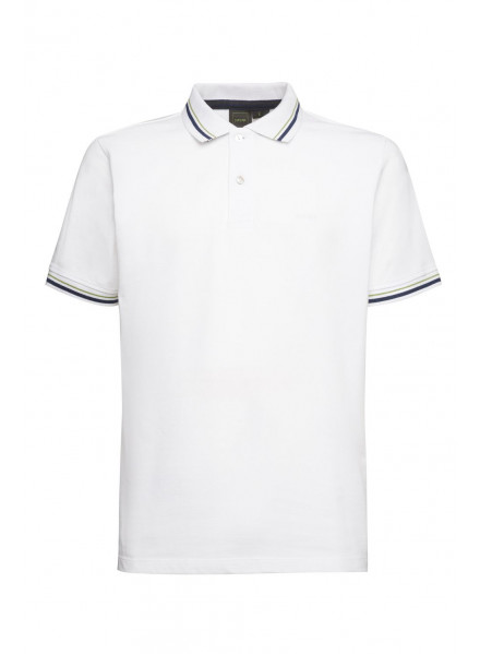 POLO GEOX M SUSTAINABLE WHITE