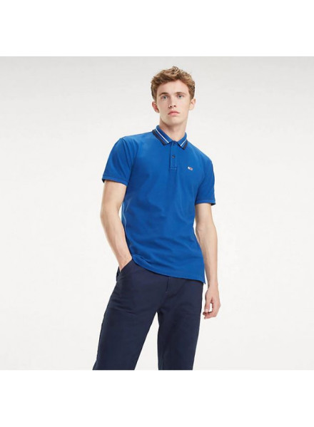 Polo Tommy Hilfiger Classics Stretc Limoges/Wh