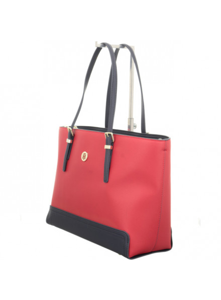 Bolso Tommy Hilfiger Honey Med Red/Navy