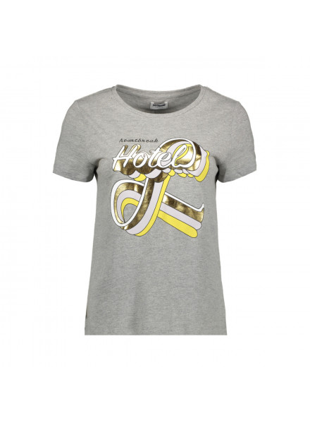 Camiseta Vero Moda Nmnate Vegas Foi Light Grey
