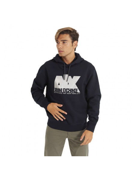 Sudadera Reflectante Armani Exchange Con Capucha