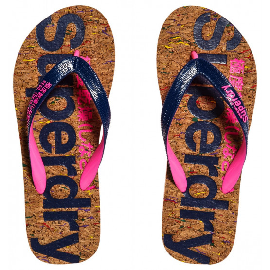 XANCLES SUPERDRY CORK MULTI PLECK CORK/FRENCH NAVY DONA