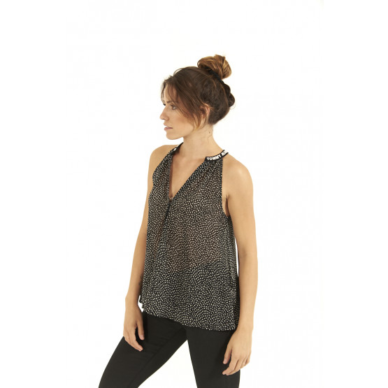 Top Tommy Hilfiger Solid Strap Cami Dotty/Blac Dona